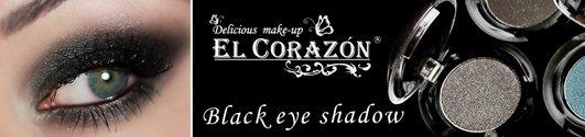 Черные тени для век EL Corazon, как красить черные тени